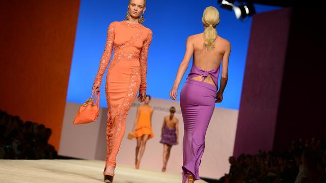 Des mannequins au défilé des collections printemps-été 2013 de Ermanno Scervino, le 20 septembre 2012 à Milan [Olivier Morin / AFP]