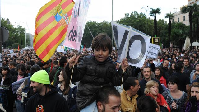Des manifestants à Madrid le 29 septembre 2012 [Dominique Faget / AFP]