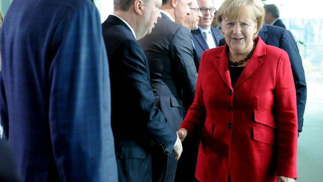 La chancelière allemande Angela Merkel le 1er octobre 2012 à Berlin [Maurizio Gambarini / DPA/AFP]