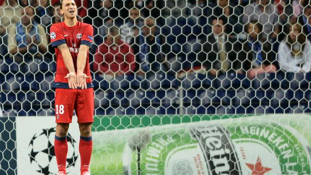 L'attaquant suédois du Paris SG Zlatan Ibrahimovic lors du match de Ligue des champions face au FC Porto, le 3 octobre 2012. [Miguel Riopa / AFP]