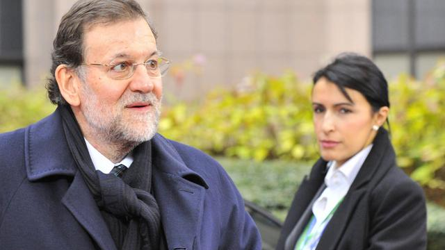 Le Premier ministre espagnol Mariono Rajoy au sommet européen à Bruxelles, le 14 décembre 2012 [Georges Gobet / AFP]