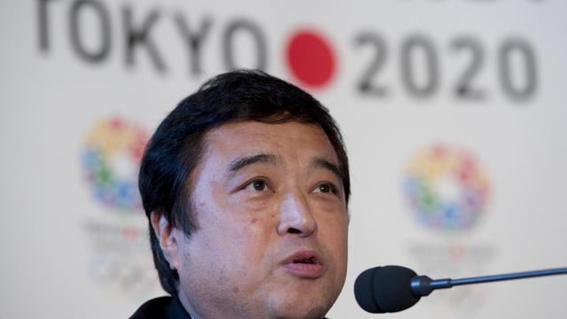Le vice-ministre de l'éducation de la culture, des sports, de la science et des technologies Teru Fuku lors d'une conférence de presse le 10 janvier 2013 à Londres pour la candidature de Tokyo aux Jeux Olympiques de 2020 [Ben Stansall / AFP]