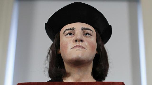 Reconstruction du visage de Richard III, le 5 février 2013 à Londres [Justin Tallis / AFP]