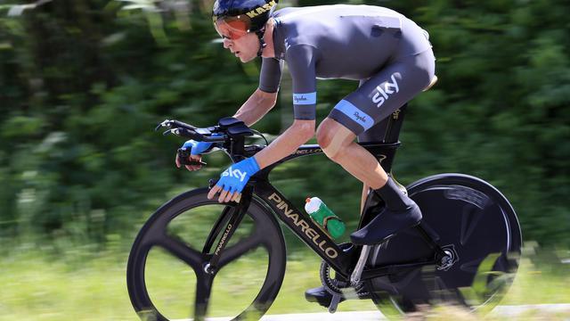 Le coureur cycliste britannique Bradley Wiggins sur le Tour d'Italie, le 11 mai 2013 [Luk Benies / AFP]