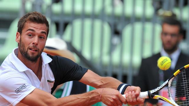 Le Français Benoît Paire lors du quart de finale du Masters 1000 de Rome, remporté contre l'Espagnol Marcel Granollers 6-1, 6-0, le 17 mai 2013 [Tiziana Fabi / AFP]