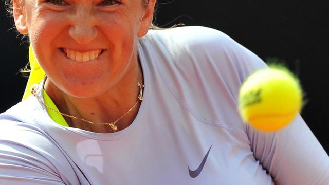 La Bélarusse Victoria Azarenka lors de la demi-finale du Tournoi de Rome le 18 mai 2013 à Rome [Tiziana Fabi / AFP]