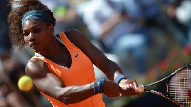 Serena Williams au cours de la finale du tournoi de Rome face à la Bélarusse Victoria Azarenka le 19 mai 2013 [Filippo Monteforte / AFP]