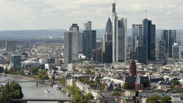 Une vue générale des gratte-ciel de la place financière de Francfort, en septembre 2012 [Odd Andersen / AFP/Archives]