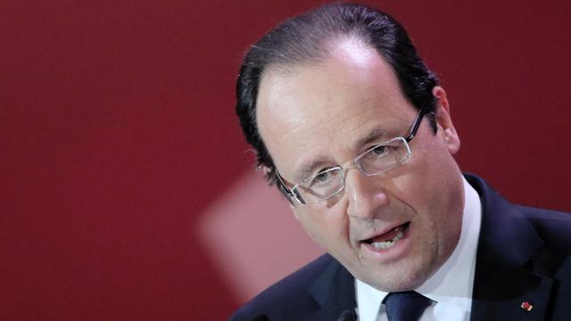 François Hollande s'exprime le 23 mai 2013 à Leipzig pour le 150e anniversaire du SPD [Kay Nietfeld / Pool/AFP/Archives]