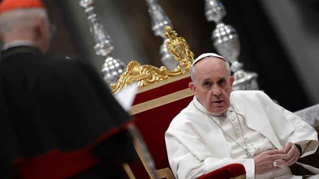 Le pape François, le 23 mai 2013 à la Basilique Saint-Pierre du Vatican [Filippo Monteforte / AFP]