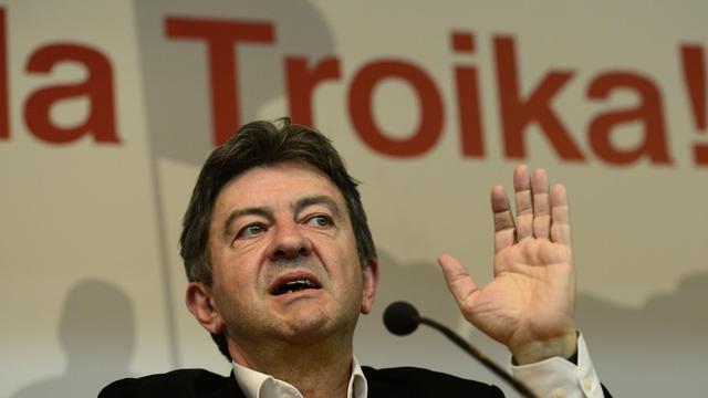 Jean-Luc Mélenchon, coprésident du Parti de gauche, le 27 mai 2013 à Madrid [Javier Soriano / AFP]