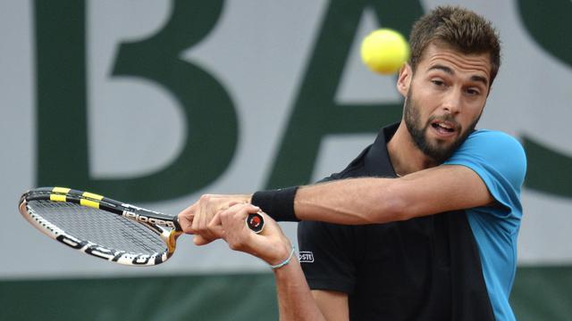 Benoît Paire au premier tour de Roland-Garros, le 28 mai 2013 à Paris [Miguel Medina / AFP]