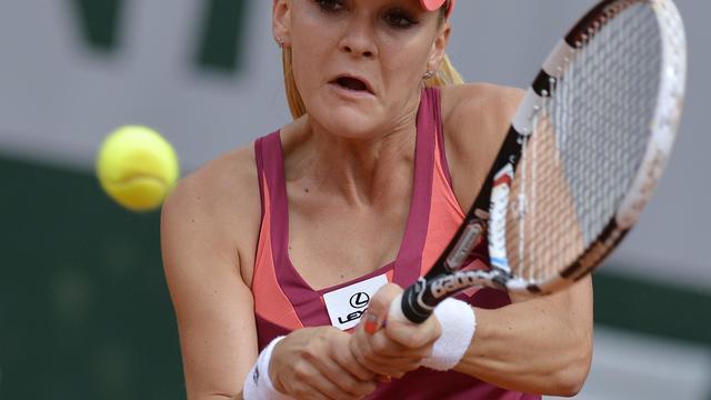 Agnieszka Radwanska au deuxième tour de Roland-Garros, le 29 mai 2013 à Paris [Miguel Medina / AFP]