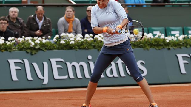 Victoria Azarenka au premier tour de Roland-Garros, le 29 mai 2013 à Paris [Kenzo Tribouillard / AFP]