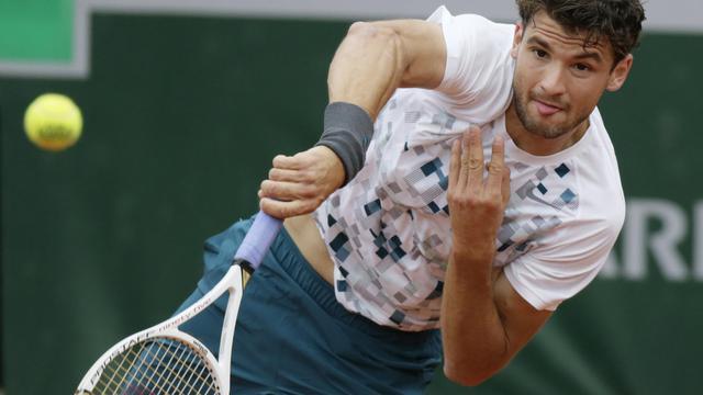 Grigor Dimitrov  lors du match l'opposant au Français Lucas Pouille  le 30 mai 2013 à Roland Garros à Paris [Kenzo Tribouillard / AFP]