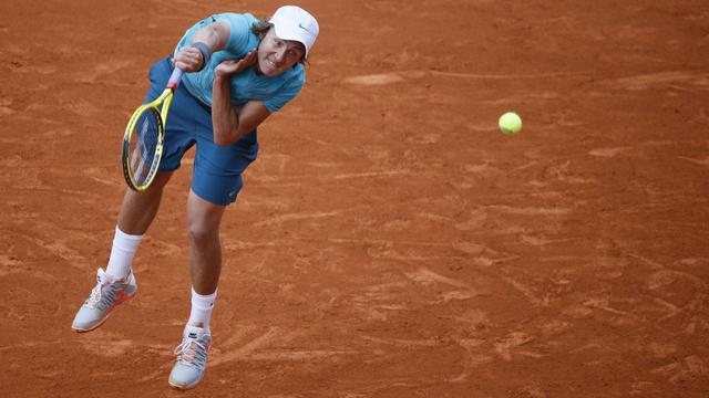 Le Français Lucas Pouille au 2e tour de Roland-Garros le 30 mai 2013 [Kenzo Tribouillard / AFP]