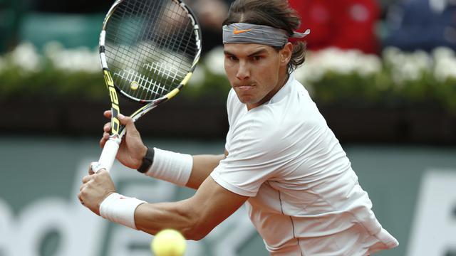 L'Espagnol Rafael Nadal le 31 mai 2013 à Roland-Garros lors de son match contre le Slovaque Martin Klizan