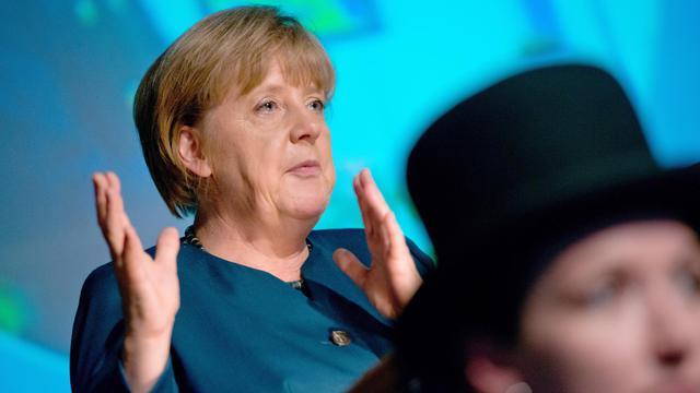 La chancelière allemande Angela Merkel, le 31 mai 2013 à Stralsund, dans le nord-est de l'Allemagne [Stefan Sauer / DPA/AFP]