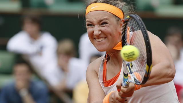 La Bélarusse Victoria Azarenka, N.3 mondiale, lors de son match face à Alizée Cornet, le 1er juin 2013 à Roland-Garros [Kenzo Tribouillard / AFP]