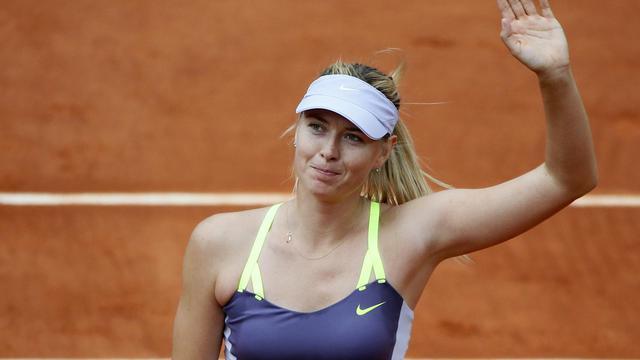 La Russe Maria Sharapova après sa victoire contre la Chinoise Jie Zheng au 3e tour de Roland-Garros le 1er juin 2013 [Kenzo Tribouillard / AFP]