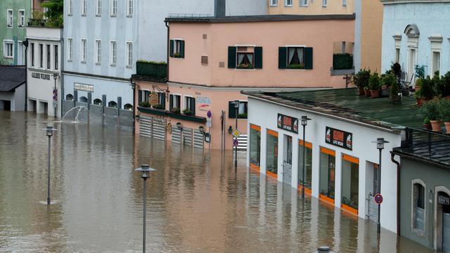 La ville de Passau inondée, le 1er juin 2013 [Armin Weigel / DPA/AFP]