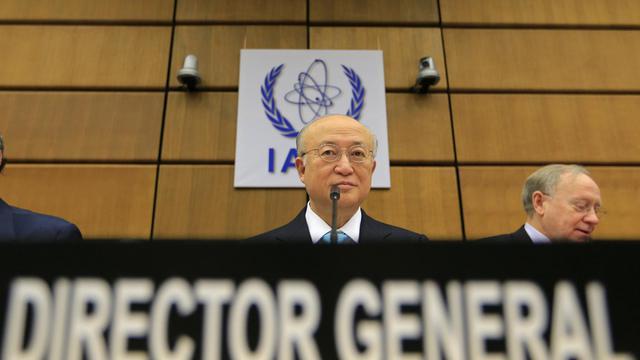 Le directeur de l'Agence internationale de l'énergie atomique (AIEA), Yukiya Amano, le 3 juin 2013 à Vienne [Alexander Klein / AFP]