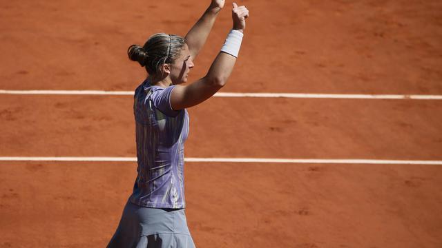 L'Italienne Sara Errani après sa victoire en quart de finale à Roland-Garros le 4 juin 2013 [Kenzo Tribouillard / AFP]
