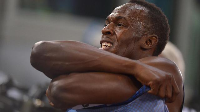 Le Jamaïcain Usain Bolt, recordman du monde du 100 et du 200 m, lors du meeting de Rome, le 6 juin 2013 [Alberto Pizzoli / AFP]
