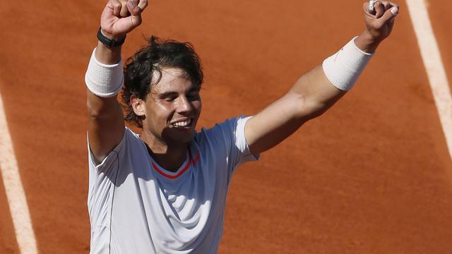L'Espagnol Rafael Nadal après sa victoire en demi-finale du tournoi de Roland Garros face à Novak Djokovic le 7 juin 2013 à Paris [Patrick Kovarik / AFP]