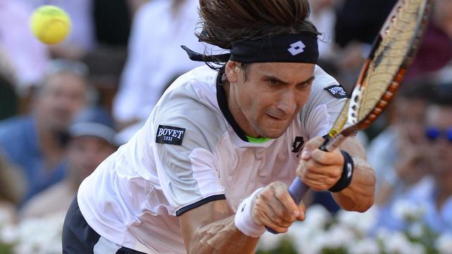 L'Espagnol David Ferrer en demi-finale contre Tsonga de Roland-Garros le 7 juin 2013 [Martin Bureau / AFP]