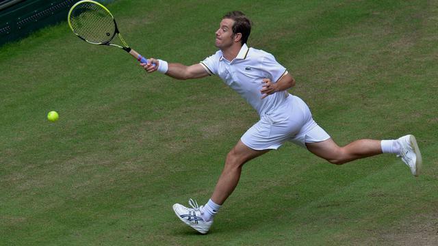 Le Français Richard Gasquet, lors du tournoi de Halle, le 14 juin 2013 [Carmen Jaspersen / AFP]