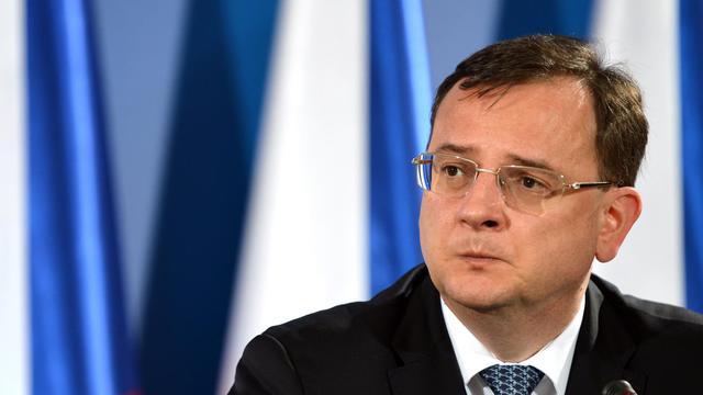 Le Premier ministre tchèque Petr Necas le 16 juin 2013 à Varsovie [Janek Skarzynski / AFP]