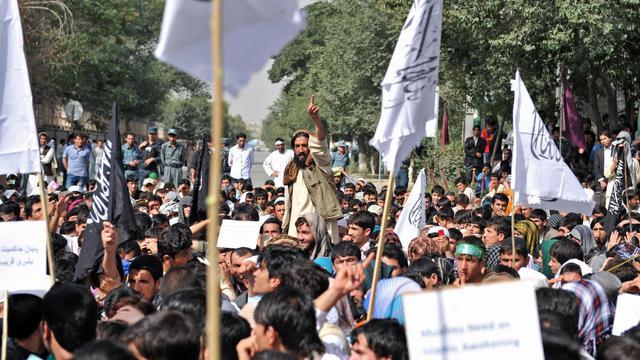 Manifestation le 16 septembre 2012 à Kaboul contre la diffusion d'un film hostile à l'islam [Massoud Hossaini / AFP]