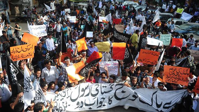 Manifestation le 20 septembre 2012 à Karachi [Asif Hassan / AFP]