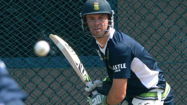 Le capitaine de l'équipe d'Afrique du Sud, AB de Villiers, à l'entraînement le 26 septembre 2012. [Ishara S.Kodikara / AFP]