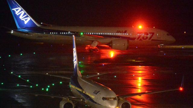 Un Boeing 787 à l'atterrissage le 16 mai 2013 à l'aéroport Haneda à Tokyo [Toshifumi Kitamura / AFP]