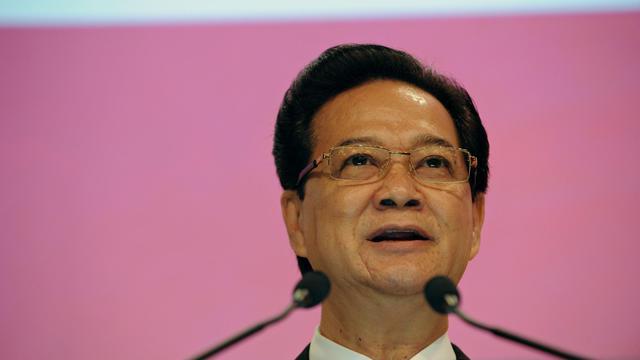Le Premier ministre vietnamien Nguyen Tan Dung, le 31 mai 2013 à un forum sur la sécurité tenu à Singapour [Roslan Rahman / AFP]