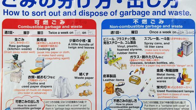 Si vous pensez que le tri sélectif des ordures ménagères est une véritable corvée, une semaine à Tokyo vous fera comprendre votre bonheur: ici il faut tout trier, absolument tout. Mais finalement ça paye du point de vue de l'environnement.[AFP]