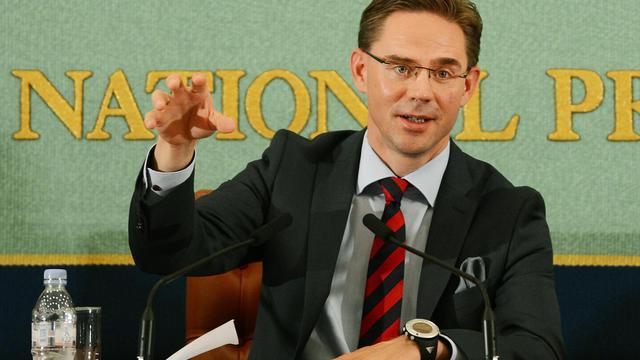 """Le Premier ministre finlandais Jyrki Katainen a soutenu mardi l'Espagne dans sa lutte pour sortir d'une situation """"injuste"""" d'extrême tension sur les marchés et assuré qu'il ne pousserait pas le pays à demander un sauvetage global de son économie. [AFP]"""