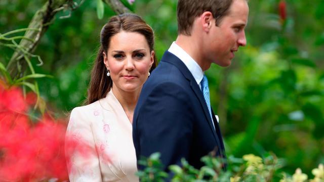 """Le prince William aimerait être """"invisible"""", tout comme son épouse Catherine, a déclaré le jeune couple à Singapour en entamant une tournée de neuf jours en Asie-Pacifique en l'honneur des 60 ans de règne d'Elizabeth II, a indiqué mercredi la presse locale. [POOL]"""