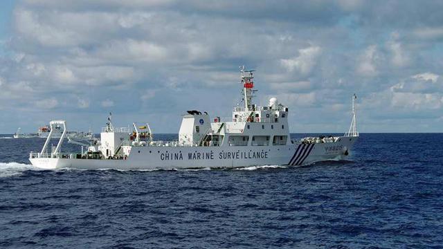 Photo transmise par les Gardes côtes du Japon, montrant un navire de surveillance chinois à proximité près des îles de Senkaku/Diaoyu, le 14 septembre 2012 [Japan Coast Guard / Guardes Côtes du Japon/AFP]