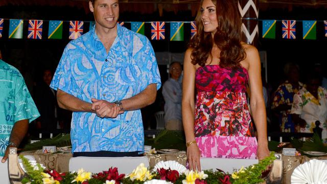 William et Kate le 16 septembre 2012 à Honiara aux îles Salomons [William West / AFP]