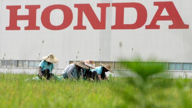 Vue extérieure de l'usine Honda en date du 17 juin 2010 à Foshan en Chine [ / AFP/Archives]