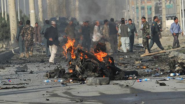 Attentat suicide le 18 septembre 2012 à Kaboul [Massoud Hossaini / AFP]