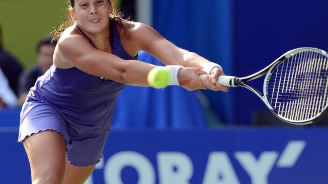 La Française Marion Bartoli lors de son match remporté contre la Japonaise Kimiko Date-Krumm, le 24 septembre 2012 à Tokyo. [Toshifumi Kitamura / AFP]