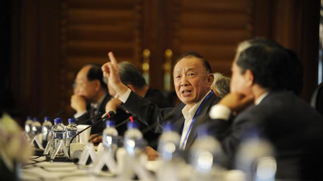 L'ex-mabassadeur chinois au Japon Xu Dunxin lors d'une rencontre diplomatique entre la Chine et le Japon à Pékin, le 28 septembre 2012 [Wang Zhao / AFP]