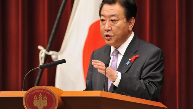 Yoshihiko Noda le 1er octobre 2012 à Tokyo [Kazuhiro Nogi / AFP]