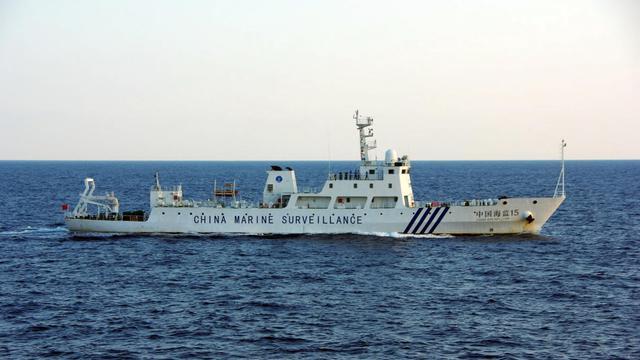 Photo fournie par les garde-côtes japonais d'un navire chinois de surveillance près des îles Senkaku/Diaoyu, le 26 octobre 2012 [ / Japan Coast Guard/AFP/Archives]