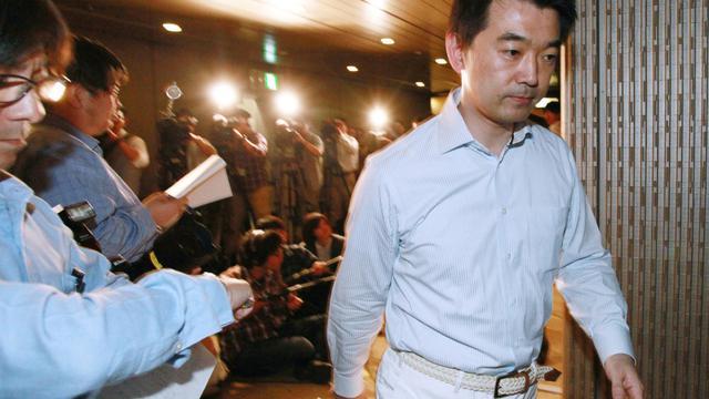 Le maire d'Osaka, le 17 mai 2013, lors d'un conférence de presse dans sa ville [Str / AFP]