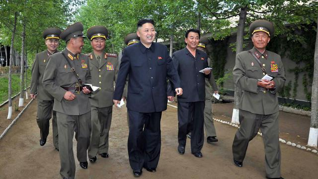 Photo non datée de  Kim Jong-Un fournie le 21 mai 2013 par l'agence KCNA [Kns / AFP/P PHOTO / KCNA VIA KNS]